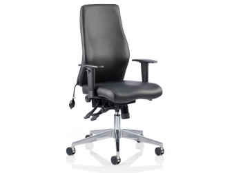 Dynamic Onyx Leather Office Chair