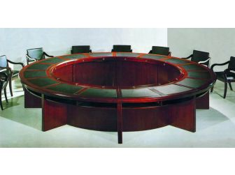 Large Round Boardroom Table in Mahogany Large Round Meeting Table