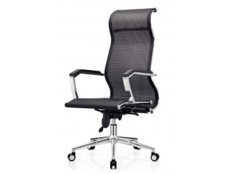 Quality High Back Mesh Office Chair with Chrome Swivel Base