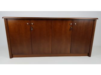 Real Wood Veneer Four Door Executive Walnut Cupboard - 6846T