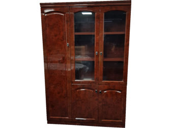 Gloss Walnut Executive Executive Bookcase Cabinet -  6847A