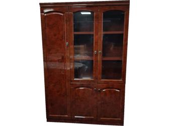 Gloss Walnut Executive Executive Bookcase Cabinet -  6847A