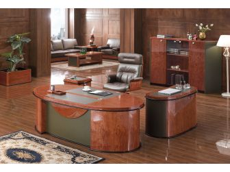 Contemporary  Italian Design Executive Desk HSN-6865-2200mm