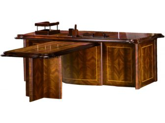 Regency Mahogany 2200mm Executive Office Desk - T916