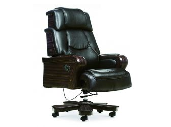 Large Executive Leather Boss Chair with Wooden Arms JK-5A