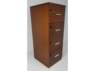 Senato DES-4D-FIL-LWNT Light Walnut Filing Cabinet