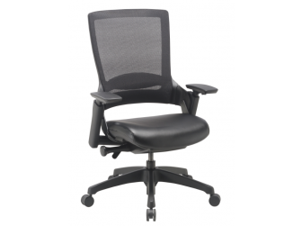 Dynamic Molet Leather Seat and Mesh Back Office Chair