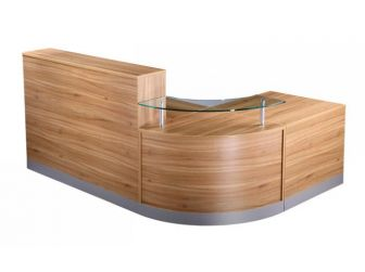 Reception Desk Counter - American Black Walnut