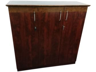 3 Door Tall Mahogany Executive Office cupboard