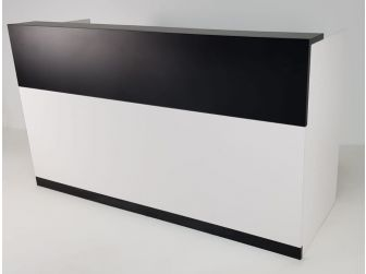 Reception Desk Counter Black and White
