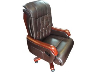 Real Leather Executive Office Chair - FD6B Brown