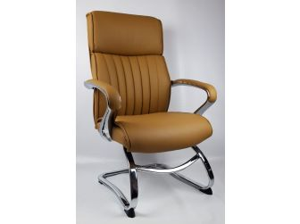 Beige Leather Executive Visitors Chair - CHA-03C