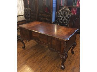 Bespoke Antique Design Reproduction Walnut Executive Writing Desk - HO-216062-1500mm