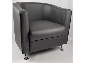 HB-022 Grey Tub Reception Chair