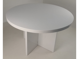 Executive Round Meeting Room Table Gloss White DES-MET-1861-R-GW