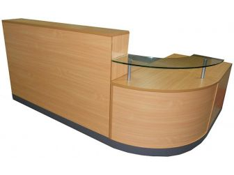 Reception Desk Counter - Beech