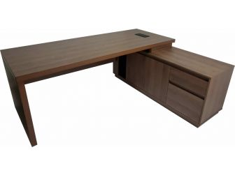 Quality Executive Office Corner Desk in Walnut BG856