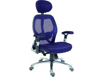 High Tech Mesh Back Executive Chair COBHAM Blue