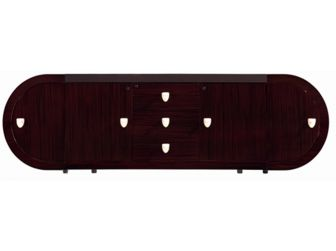 Large Walnut Gloss Credenza - CR1383