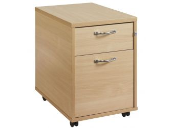 2 Drawer Mobile Desk Pedestal R2M