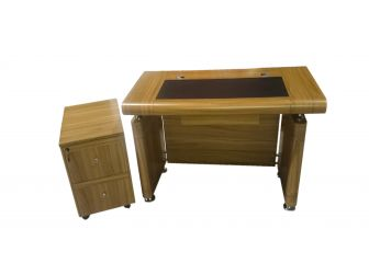 1200mm Small Executive Office Desk Light Oak 1861 With Pedestal Option