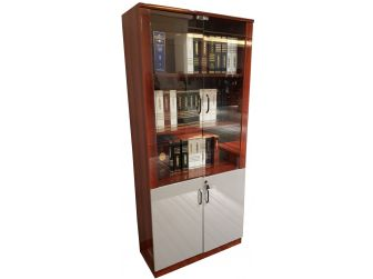 Gloss Mahogany Office Storage Bookcase In High Lacquer DES-0950A