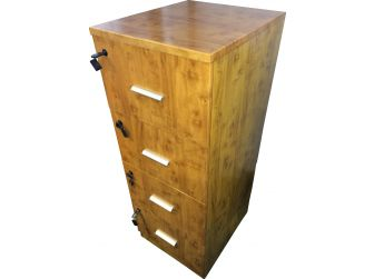 Senato DES-4D-FIL-YEW Filing Cabinet to match the 1860 and 1862 Desks