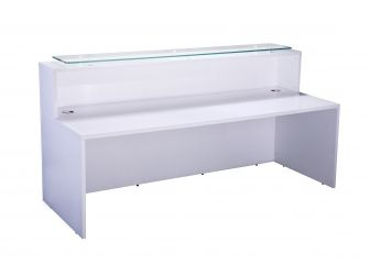 Reception Desk Counter High Gloss