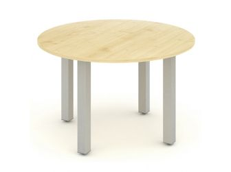 IMPULSE 1200 - Round Meeting Table in Maple