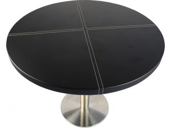 Black Leather Meeting Table - T-05