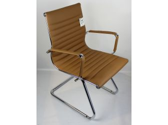 Beige Leather Executive Visitor Chair - HB-E13