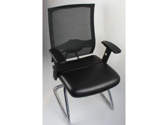High Quality Mesh & Leather Visitor Chair - CHA-4830C