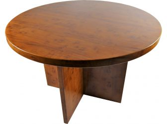 Executive Round Meeting Room Table Yew - DES-MET-1862-R-Y
