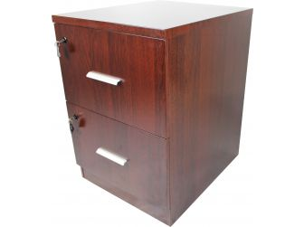 Executive 2 Drawer Filing Cabinet - DES-2D-FIL-Mahogany