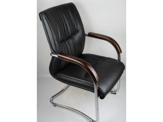 Stylish Office Visitor Chair GRA-CHA-VIS-6161 BLACK