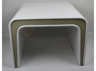 White Gloss with Beige Coffee Table - 600mm or 1200mm - CF1281
