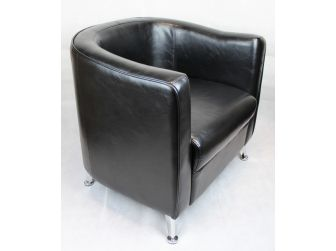HB-022 Black Tub Reception Chair