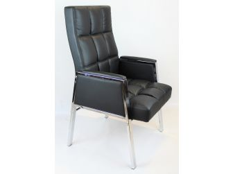 Black Leather Stylish Visitors Chair - ZV-B310