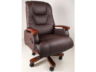 Luxury Brown Leather Executive Office Chair CHA-HB-A302