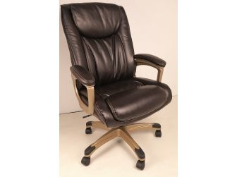 Soft Padded Executive Office Chair in Brown Leather - CHA-CS2029E
