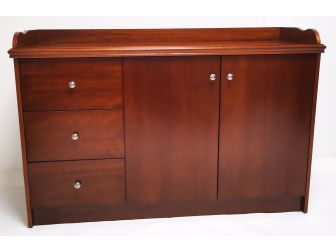 Light Walnut Real Wood Veneer Cupboard - 2K01-L