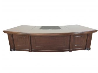 Large Curved design Solid Executive Office Desk HSN-2803 2800mm & 3200mm
