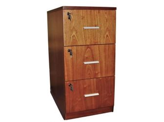 Senato DES-3D-FIL-LWNT Light Walnut Filing Cabinet