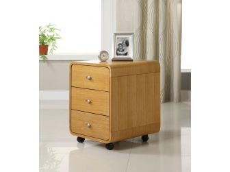 3 Drawer Pedestal In Oak Finish PC201-3DRW-O