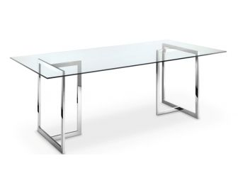 Executive Glass and Chrome Boardroom or Meeting Room Table DES-MET-LVO-5002