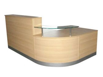 Reception Desk Counter - Light Oak