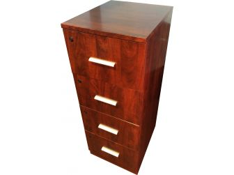 High Quality Mahogany 4 Drawer Filing Cabinet  Senato DES-802-4D-FIL