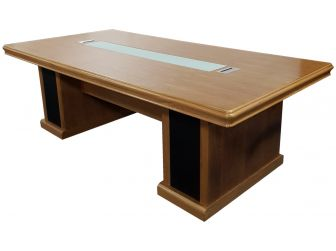Large Light Oak Executive Meeting Room Table - HB-MET-K1N241