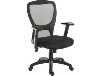 Mesh Backed Leather Executive Chair - MINSTREL