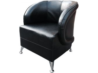 HB-032 Black Tub Reception Chair